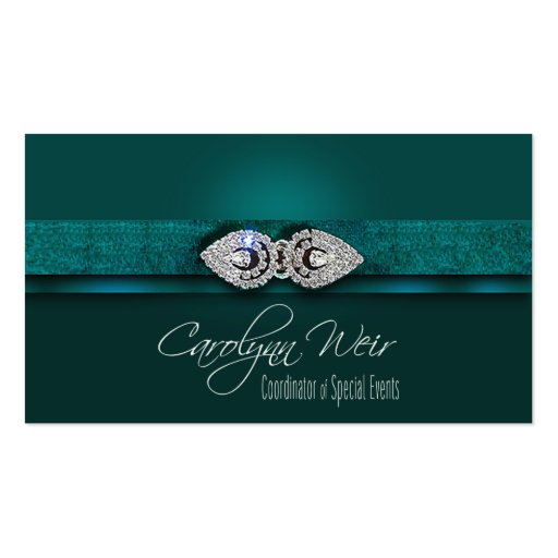 """Bejeweled"" - Glamorous Elegant Event Planner Business Cards"