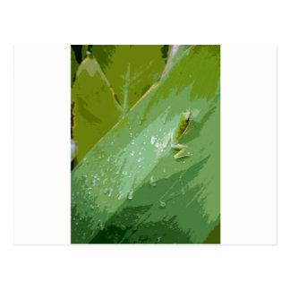 Bejeweled Green Frog Postcard