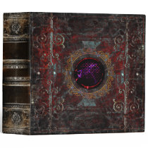 Bejeweled Grunge Royal Documents Ancient Tome 3 Ring Binder
