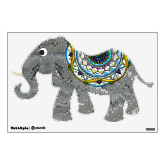 Bejeweled Indian Elephant Room Decals
