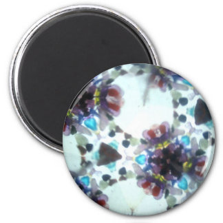 Bejeweled Kaleidescope 06 2 Inch Round Magnet