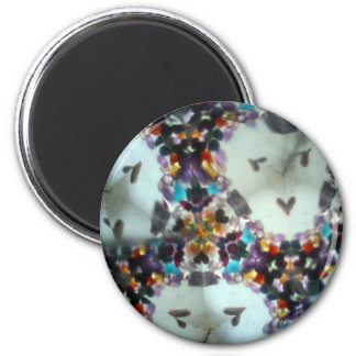Bejeweled Kaleidescope 09 2 Inch Round Magnet