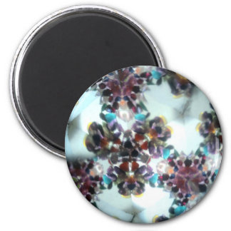 Bejeweled Kaleidescope 11 2 Inch Round Magnet