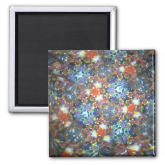 Bejeweled Kaleidescope 17 2 Inch Square Magnet
