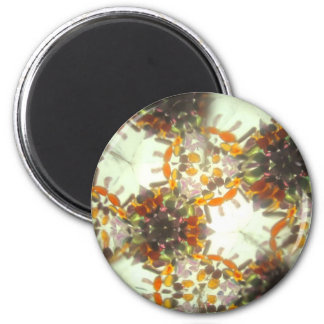 Bejeweled Kaleidescope 22 2 Inch Round Magnet