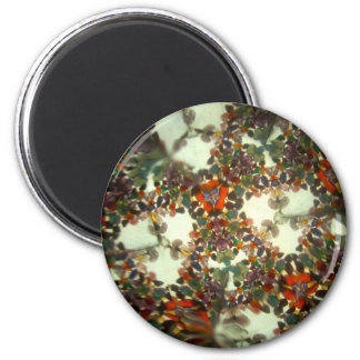 Bejeweled Kaleidescope 28 2 Inch Round Magnet
