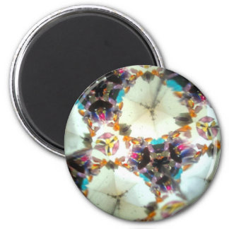 Bejeweled Kaleidescope 31 2 Inch Round Magnet