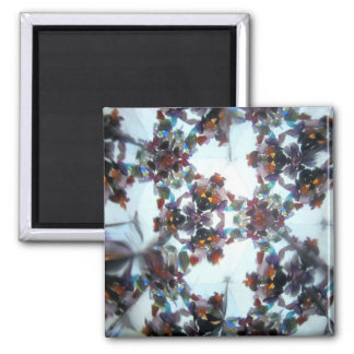 Bejeweled Kaleidescope 38 2 Inch Square Magnet