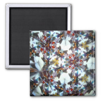 Bejeweled Kaleidescope 40 2 Inch Square Magnet