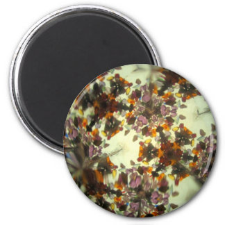 Bejeweled Kaleidescope 46 2 Inch Round Magnet
