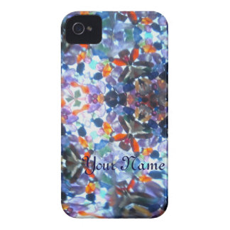 Bejeweled Kaleidescope 53 (personalized) iPhone 4 Case-Mate Case