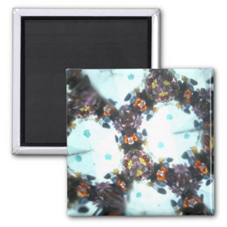 Bejeweled Kaleidescope 58 2 Inch Square Magnet