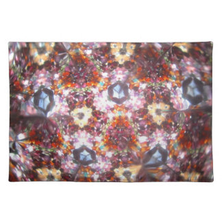 Bejeweled Kaleidescope for April Placemat Cloth Placemat