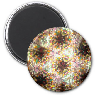 Bejeweled Kaleidescope for January 2 Inch Round Magnet