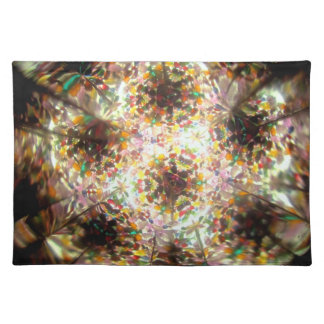 Bejeweled Kaleidescope for January Placemat Cloth Placemat