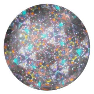 Bejeweled Kaleidescope for July Plate