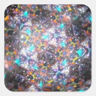 Bejeweled Kaleidescope for July Square Sticker