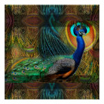 Bejeweled Peacock Poster