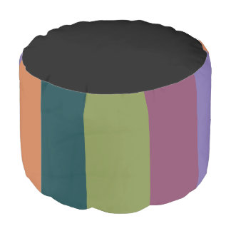 Bejeweled Round Pouf