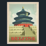 "Bejing, China Postcard<br><div class=""desc"">Anderson Design Group is an award-winning illustration and design firm in Nashville,  Tennessee. Founder Joel Anderson directs a team of talented artists to create original poster art that looks like classic vintage advertising prints from the 1920s to the 1960s.</div>"