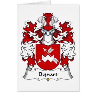 Bejnart Family Crest Greeting Card
