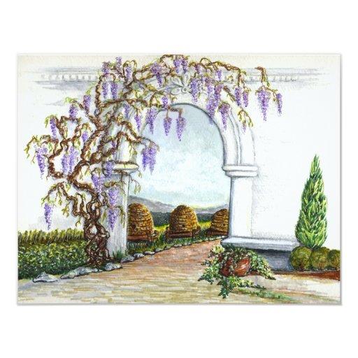 bekeeper's garden 4.25x5.5 paper invitation card
