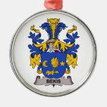 Bekis Family Crest Christmas Ornament