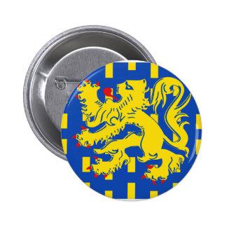 Bekkevoort, Belgium flag Pinback Button