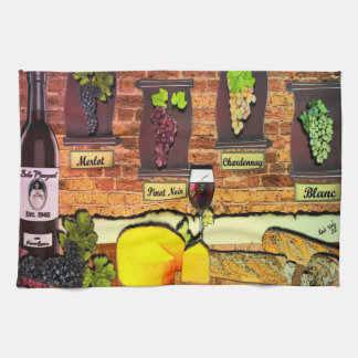 Beko Vineyard Wine Motif Kitchen Towel