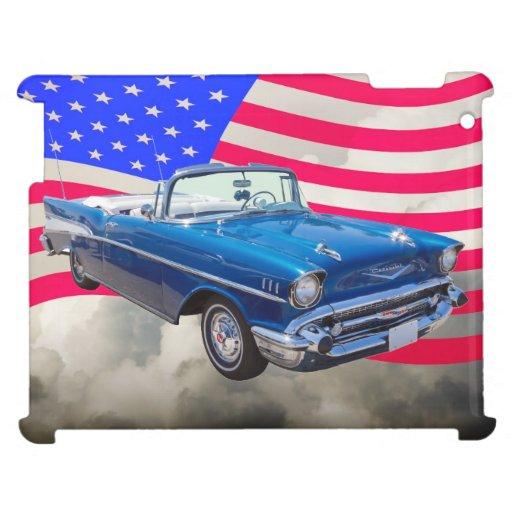 Bel Air 1957 de Chevrolet con la bandera americana
