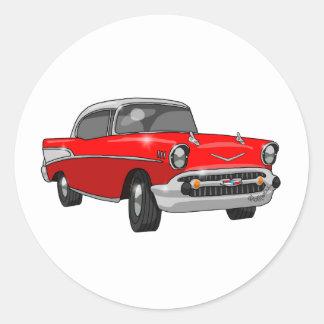 Bel Air 1957 de Chevrolet Pegatina Redonda
