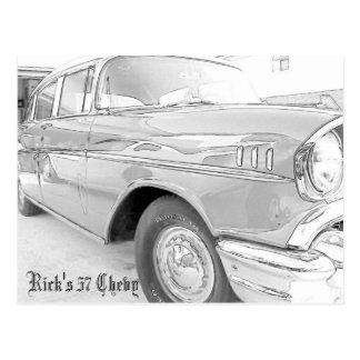 Bel Air 1957 de Chevy Tarjetas Postales