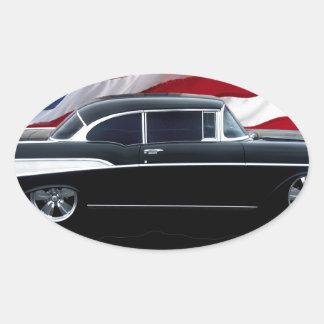 Bel Air 1957 Pegatina Ovalada