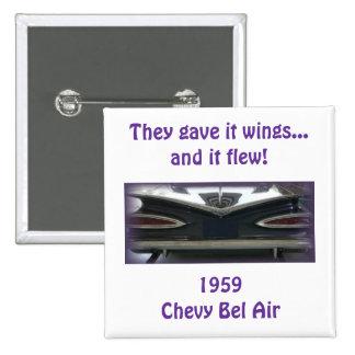 Bel Air 1959 de Chevy Pin Cuadrado