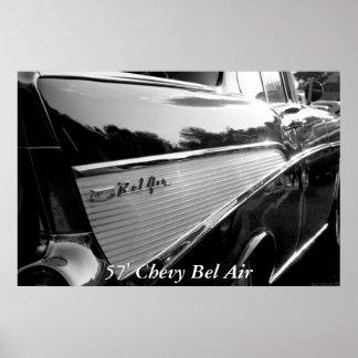 """Bel Air, 57"""" Bel Air de Chevy Póster"""