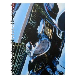 Bel Air clásico 1957 de Chevy del rojo del Spiral Notebooks