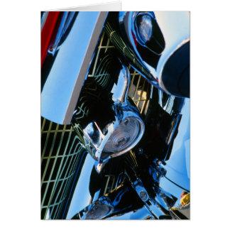 Bel Air clásico 1957 de Chevy del rojo del Tarjeta De Felicitación