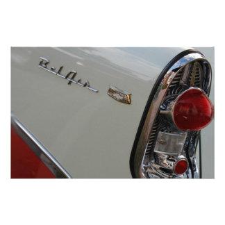 Bel Air de Chevy de los años 50 Papeleria