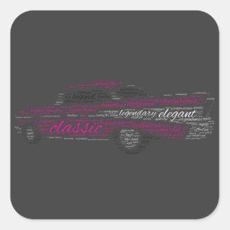 Bel Air de Chevy Pegatina Cuadrada