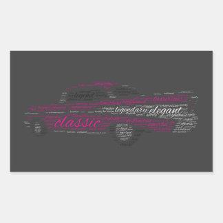 Bel Air de Chevy Pegatina Rectangular