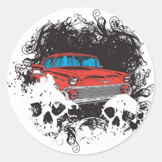 Bel Air Skulls Classic Round Sticker