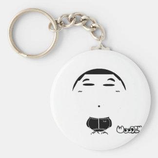 bel basic round button keychain