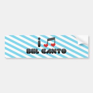 Bel Canto Car Bumper Sticker