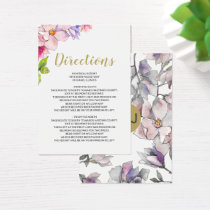 Bel Giardino Blush Floral Wedding Business Card