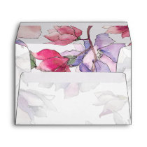 Bel Giardino Blush Floral Wedding Envelope