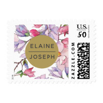 Bel Giardino Blush Floral Wedding Postage