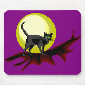 Bela Black Cat Mouse Pad