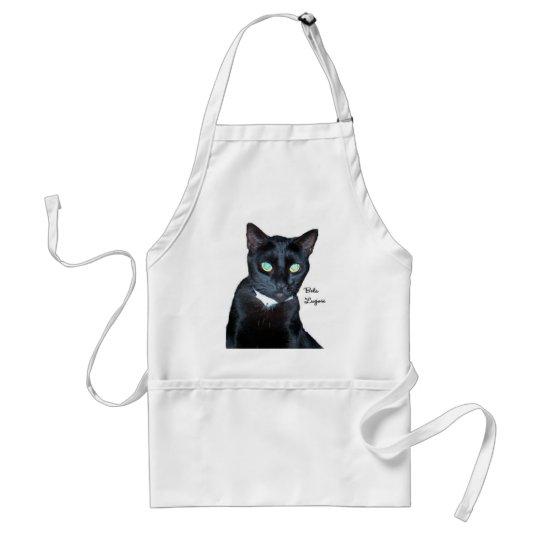 Bela the Black Cat Photo Adult Apron