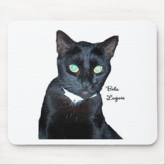 Bela the Black Cat Photo Mouse Pad
