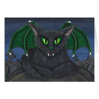 Bela Vampire Cat Gothic Fantasy Art Card